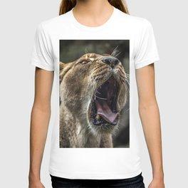 Yawning Female Lion T-shirt
