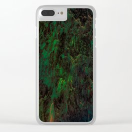 Green Flora Clear iPhone Case