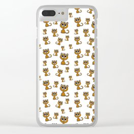 Cute Kitty Clear iPhone Case