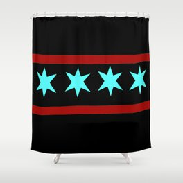 Chicago Flag (traditional) Shower Curtain