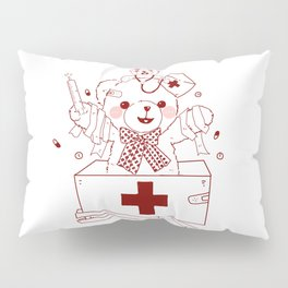 The Adventures of Bear and Baby Bear-Who's hurt? Pillow Sham