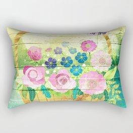 Floral Basket Rectangular Pillow