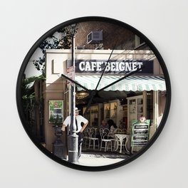 New Orleans Cafe Beignet Wall Clock