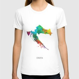 Croatia Watercolor Map T-shirt