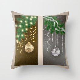 Christmas banners Throw Pillow