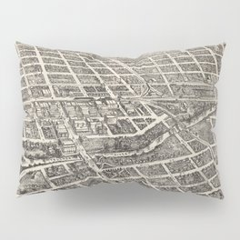 Vintage Pictorial Map of Reno Nevada (1907) Pillow Sham