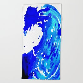 Save The Water Watercolour Beach Towel