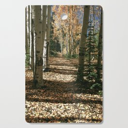 Fall Aspen Tree Hike by OLena Art Cutting Board