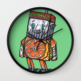 Paper toy juicy Wall Clock