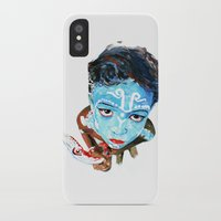 hindu iPhone & iPod Cases featuring Hindu Boy by Cristian Blanxer