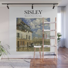 Sisley - Boat in the Flood at Port Marly Wall Mural