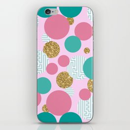 Golden Bubble Glitter Pattern iPhone Skin