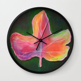 op008 fallleaf Wall Clock