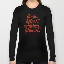 flush offset camber fitment v1 HQvector Long Sleeve T-shirt