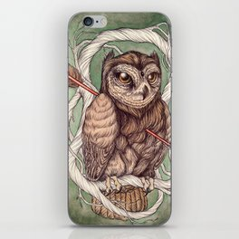 Wisdom Wounded by Folly iPhone Skin