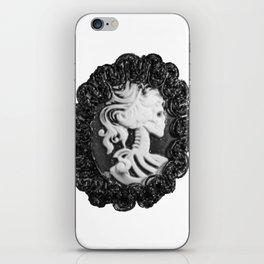 Steampunk Lady Skull iPhone Skin