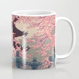 Eight Views of Tokyo - Toshogu Shrine Kasamatsu Shiro Japanese Woodblock Painting Asian Beautiful Coffee Mug