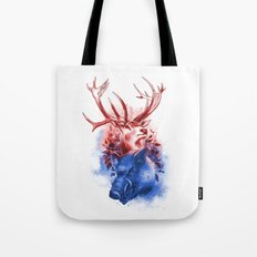 Red Stag and Blue Boar Tote Bag