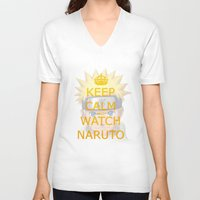 naruto V-neck T-shirts featuring Naruto by Wis Marvin