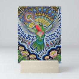 Hummingbird & Cactus - Beija Flor III Mini Art Print