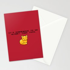 ITS DANGEROUS TO GO ALONE Take This Cat Stationery Cards