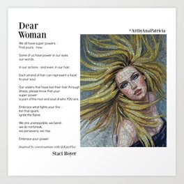 Dear Woman - Super Powers Art Print
