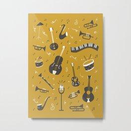 Spirit of Jazz in Gold Metal Print