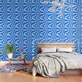 Blue sunburst Wallpaper