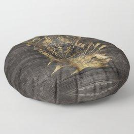 Vegvisir - Viking  Navigation Compass Floor Pillow
