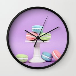 Macaron Sweet Treats Wall Clock