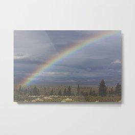Rainbow Half Metal Print