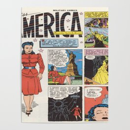 Miss America Quality Comics Poster