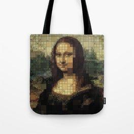 Mona Lisa on tiles Tote Bag