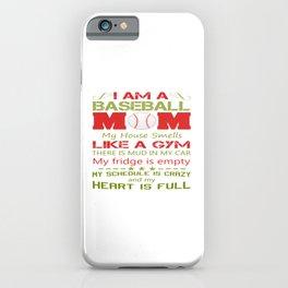 BASEBALL MOM iPhone Case