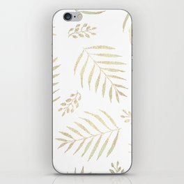 Christmas golden trees pattern iPhone Skin