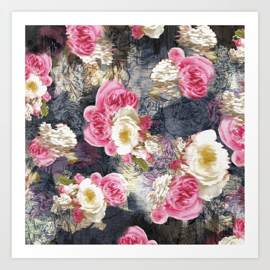 Blurry Floral Art Print