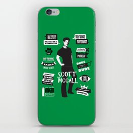 Scott Mccall Teen Wolf Quotes iPhone Skin