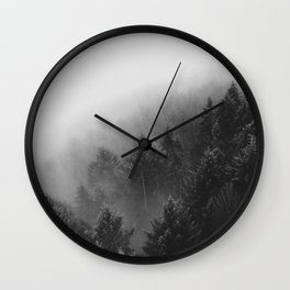 Misty Forest II Wall Clock