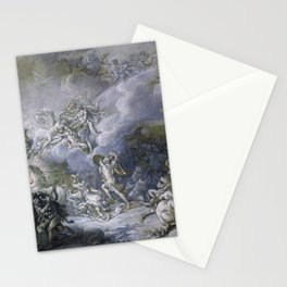 The Combat of Diomedes by Jacques-Louis David (1776) Stationery Cards