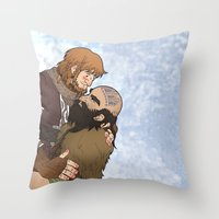 hero Throw Pillows featuring Hero by adorible