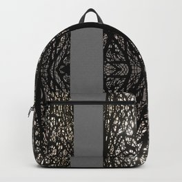 Gothic tree striped pattern grey Backpack