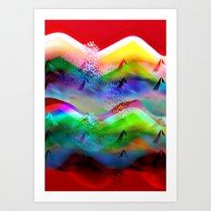 Ocean-Race  no11 Art Print