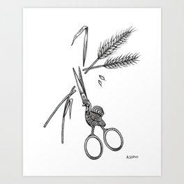 Antique Scissors Art Print