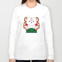 okami Long Sleeve T-shirts featuring Baby Okami by Murphis the Scurpix