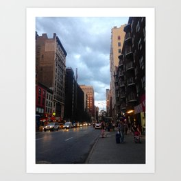 NYC afternoon Art Print