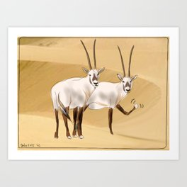 Arabian Oryx Art Print