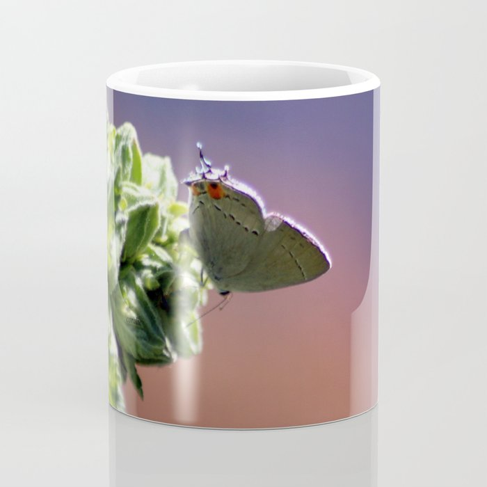 Gray Hairstreak Butterfly In The Garden Coffee Mug