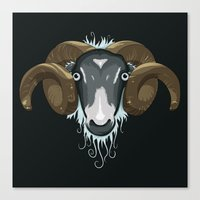 ram Canvas Prints featuring Ram by Compassion Collective