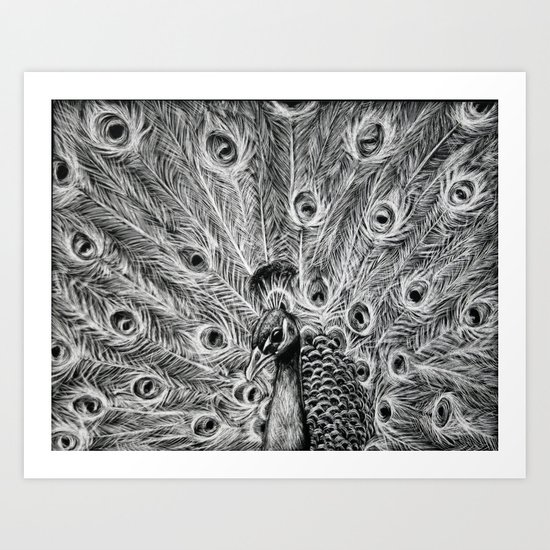 Showing Off. Art Print