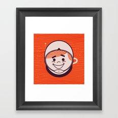 Retro Space Guy Framed Art Print